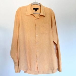 elements Arnold Zimberg Linen Blend Button Down L
